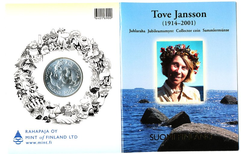FINLAND: 10€ /BU, Tove Jansson and the Moomins
