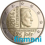 LUXEMBURG: 2€ 2014 175 Years of Independence