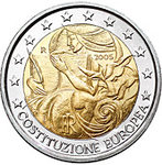 ITALIA: 2€ 1st anniversary of the signing of the European Constitution