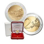 "MONACO:2€ 2015 ""800th anniversary of the construction of First Castle"" PROOF"