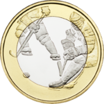 Finland, 5€ Sports Coins – Ice Hockey UNC