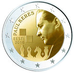 ESTLAND: Estonia 2 € jubileums- 2016 Paul Keres