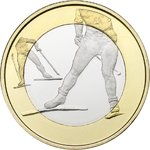 Finland 5€, Sports Coins – Cross- Country Skiing