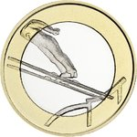 Finland: 5€ Sports Coins – Ski Jumping,UNC