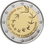 SLOVENIA: 2 € 2017 introduction of the euro 10 years.