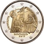 Slovenia 2 € 2017 introduction of the euro 10 years.