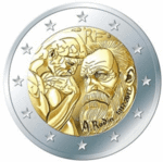 FRANCE: € 2 commemorative coin in 2017 by the sculptor Auguste Rodin