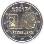 LUXEMBOURG: 2 € 2017 Voluntary military service of 50 years.