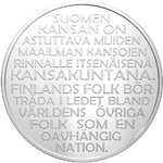 20 € Commemorative coin. Independence of Finland 6.12.1917 Proof