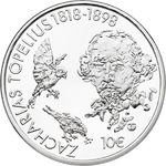 FINLAND: 10 or 20 € Topelius 200 years commemorative coin, proof SELECT