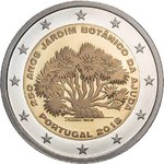 PORTUGAL: 2 € 2018 Botanical garden for 250 years UNC