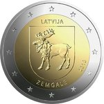 ЛАТВИЯ: 2 € 2018 Zemgale UNC