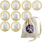 Finland: 5 € Finnish Presidents € 5 collection bag, UNC 9 pcs / bag
