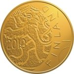 € 100 2010 Finnish currency 150 years gold KL10