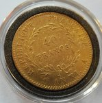 France: 40 Fr Napoleon I ANXI .A. (1802)  12.90322 g Gold .900