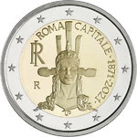 ITALY: 2 € 2021 The capital of Rome for 150 years